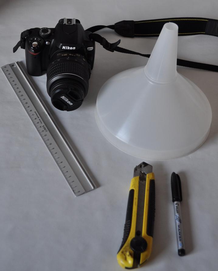 Materialer til pop-up flash diffuser