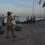 A food seller at the promenade