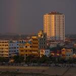 Rainbow over Phnom Pehn