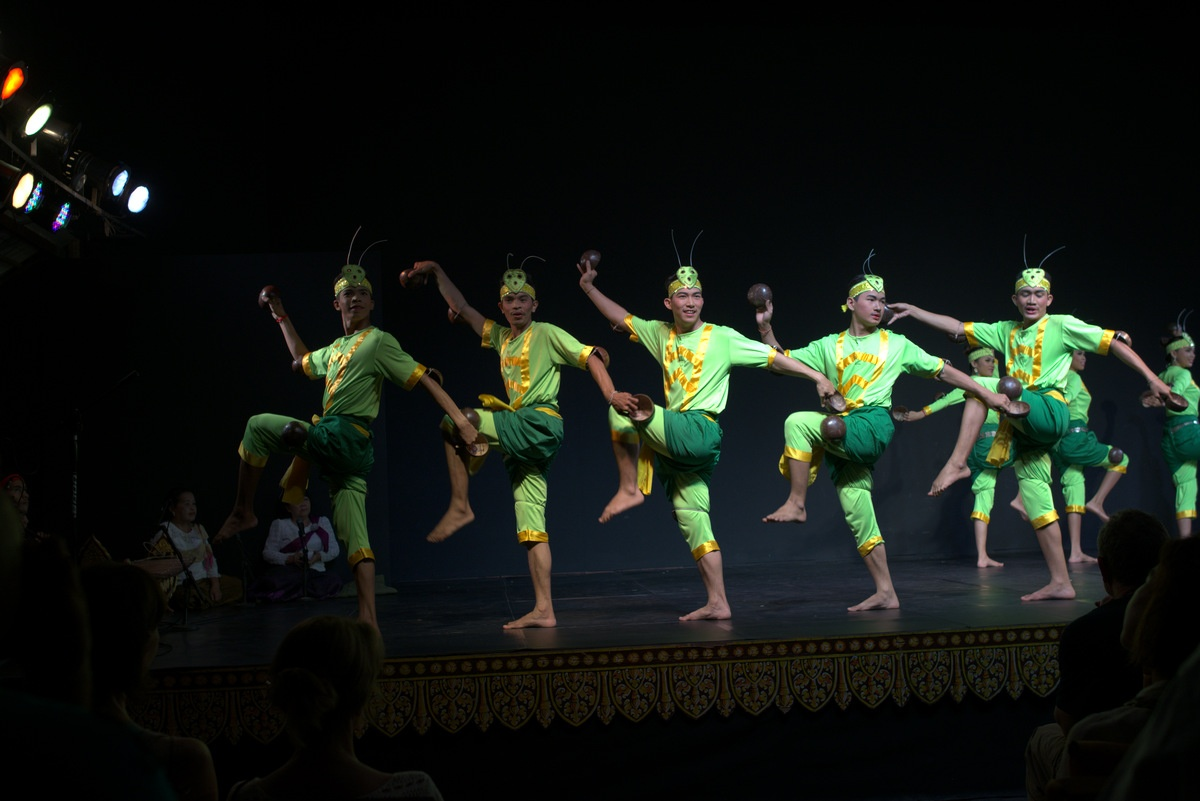 Male dancers from Cabodian Living Arts show