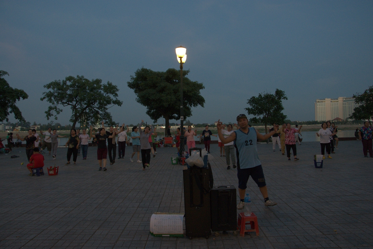 Excercise at the promenade