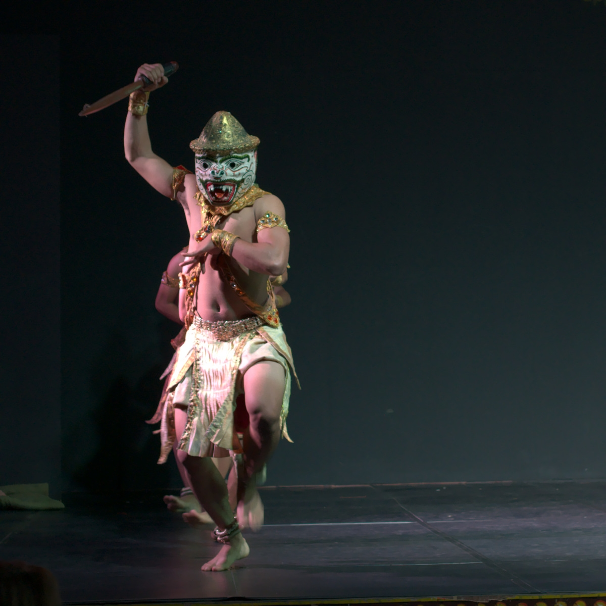 A male dancer at the Cabodian Living Arts show