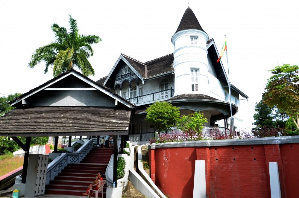 Aung Sans hjem som nu er museum om General Aung Saung