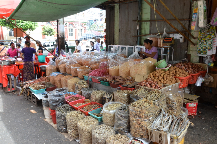 Marked stall in chinatown selling vegetables
