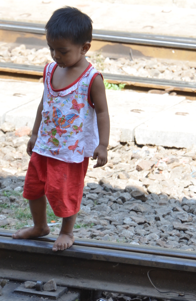Access to the tracks is not restricted, so kids play on the tracks