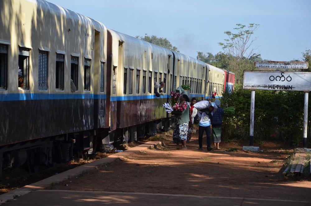 The train from Mandalay to Hsipaw