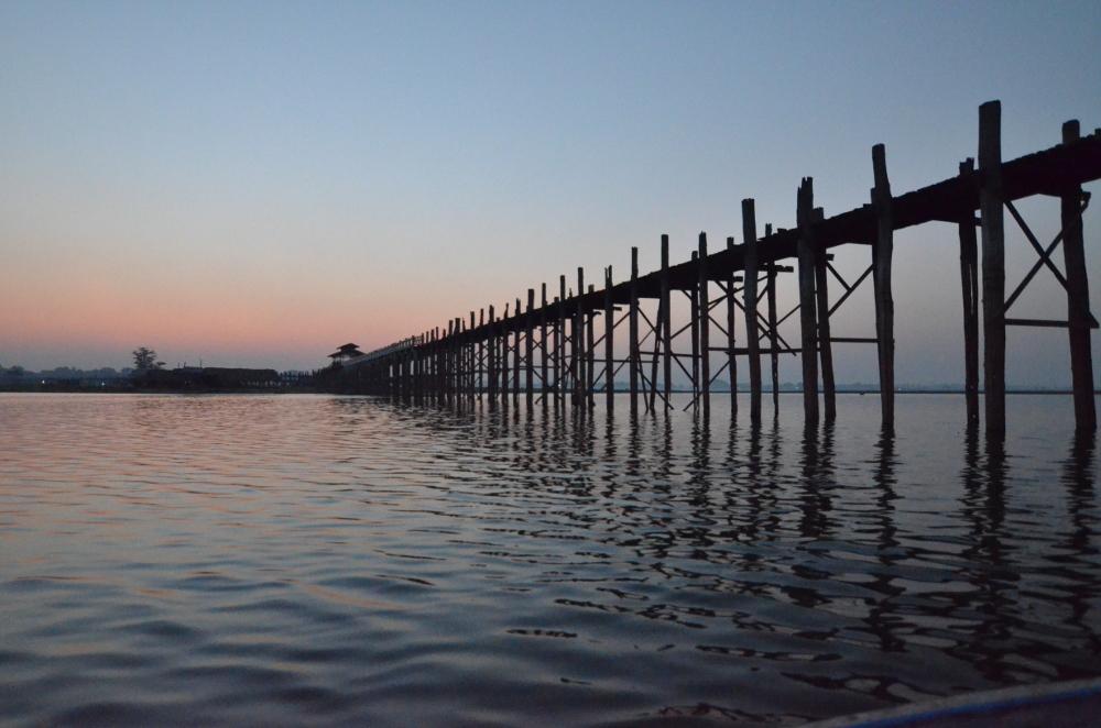 U Bein Bridge in the early morning sun