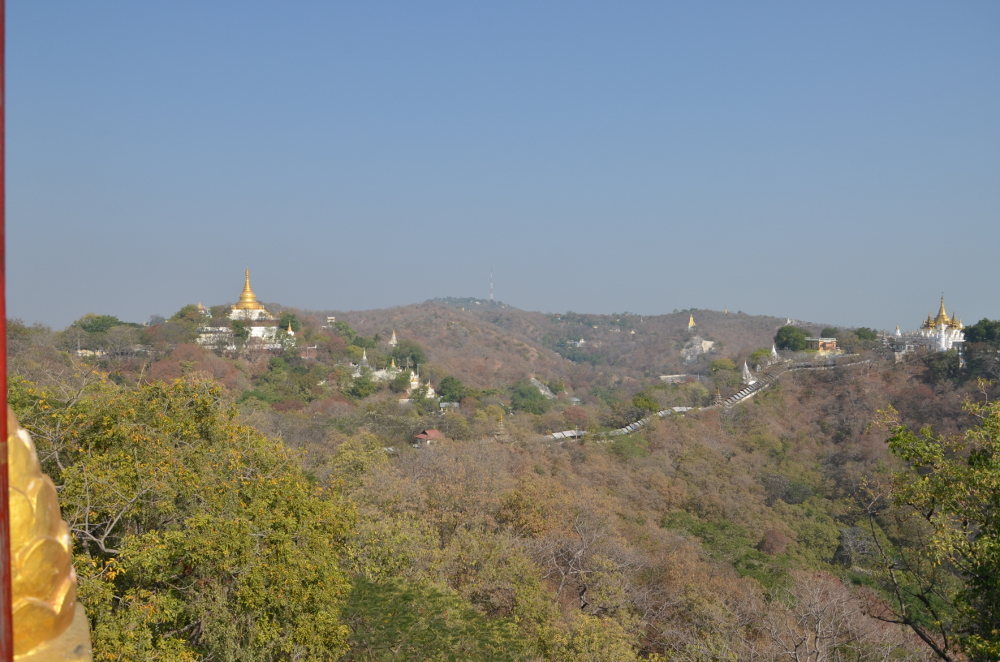 A view of the many temples in Sagain hill